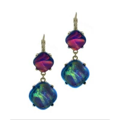 2 Drop Cabotion Earrings