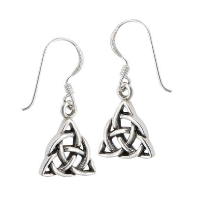 Earring: SS Trinity Circ Knot WE4288