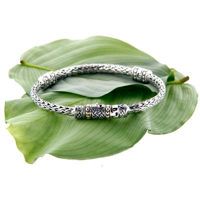 Bracelet: Sterling & 18k Dragon Weave Eternity