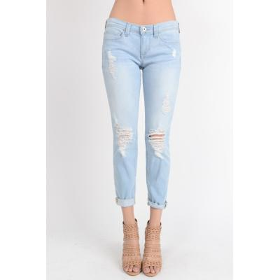 Light Wash Hipster Jeans