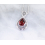 Garnet Sterling Silver Necklace, Droplet