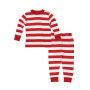 Under The Nile Baby Long Johns - Rugby Stripe Red 6m