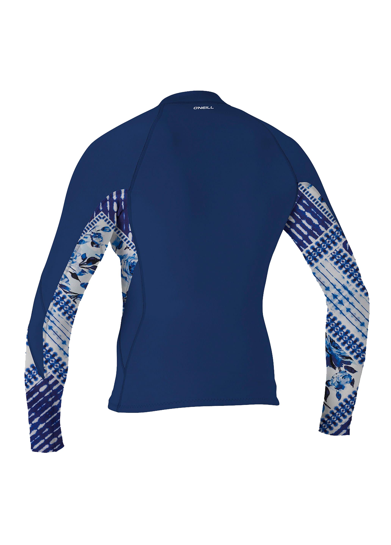 O Neill Womens Bahia 1.0//0.5mm Full Zip Wetsuit Jacket