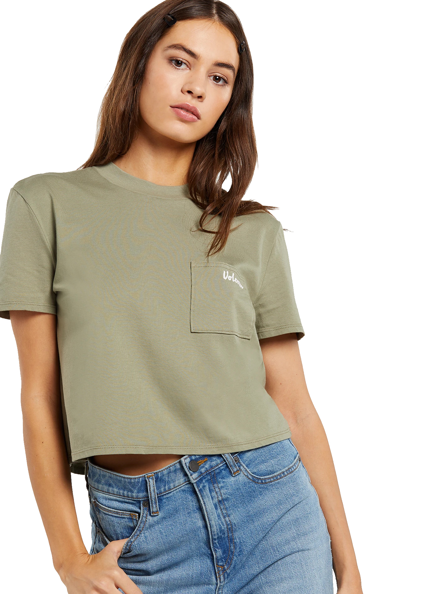 Details about  /Volcom Pocket Dial SS Tee