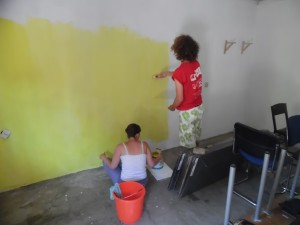 Painting the room