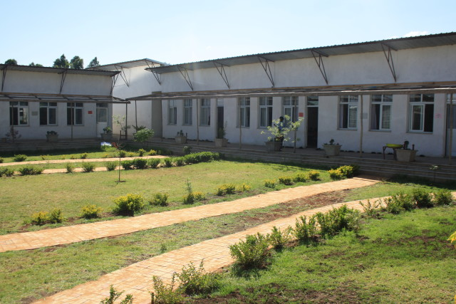 The newly-built St. George's School courtyard and classrooms.