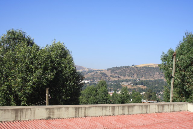 The view from our bedroom window in the Link Ethiopia accommodation in Gondar. Not too shabby!