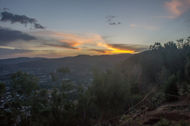 Sunset over Gondar