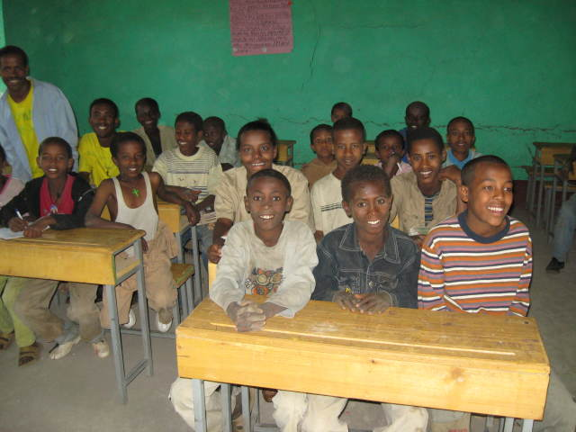 Arbatu; pupils in classroom