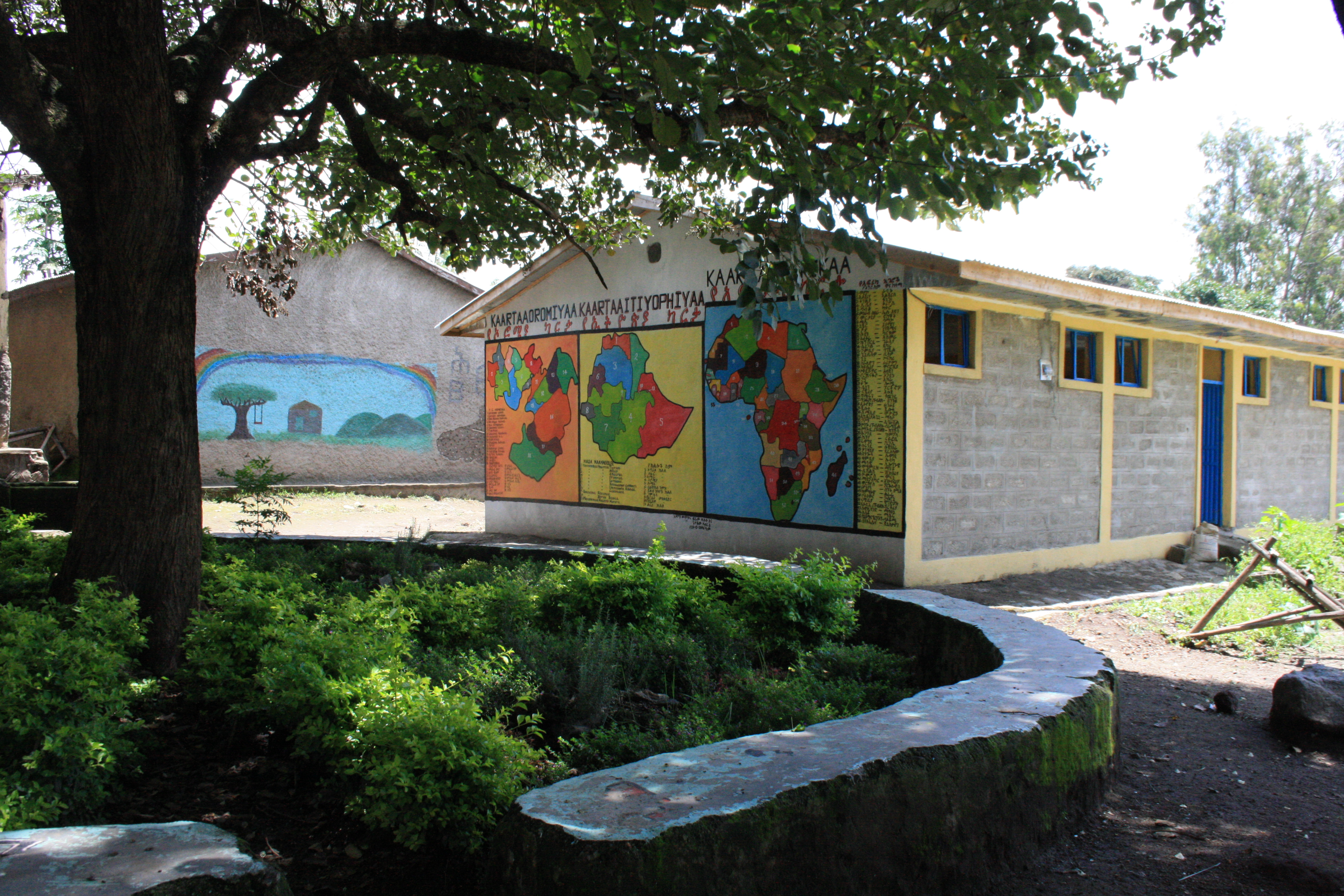 Cairo and UAS Dubai: helped with building a new toilet block by moving materials, as well as creating a beautiful garden. These have made a huge difference to the school. (Kera Hora)