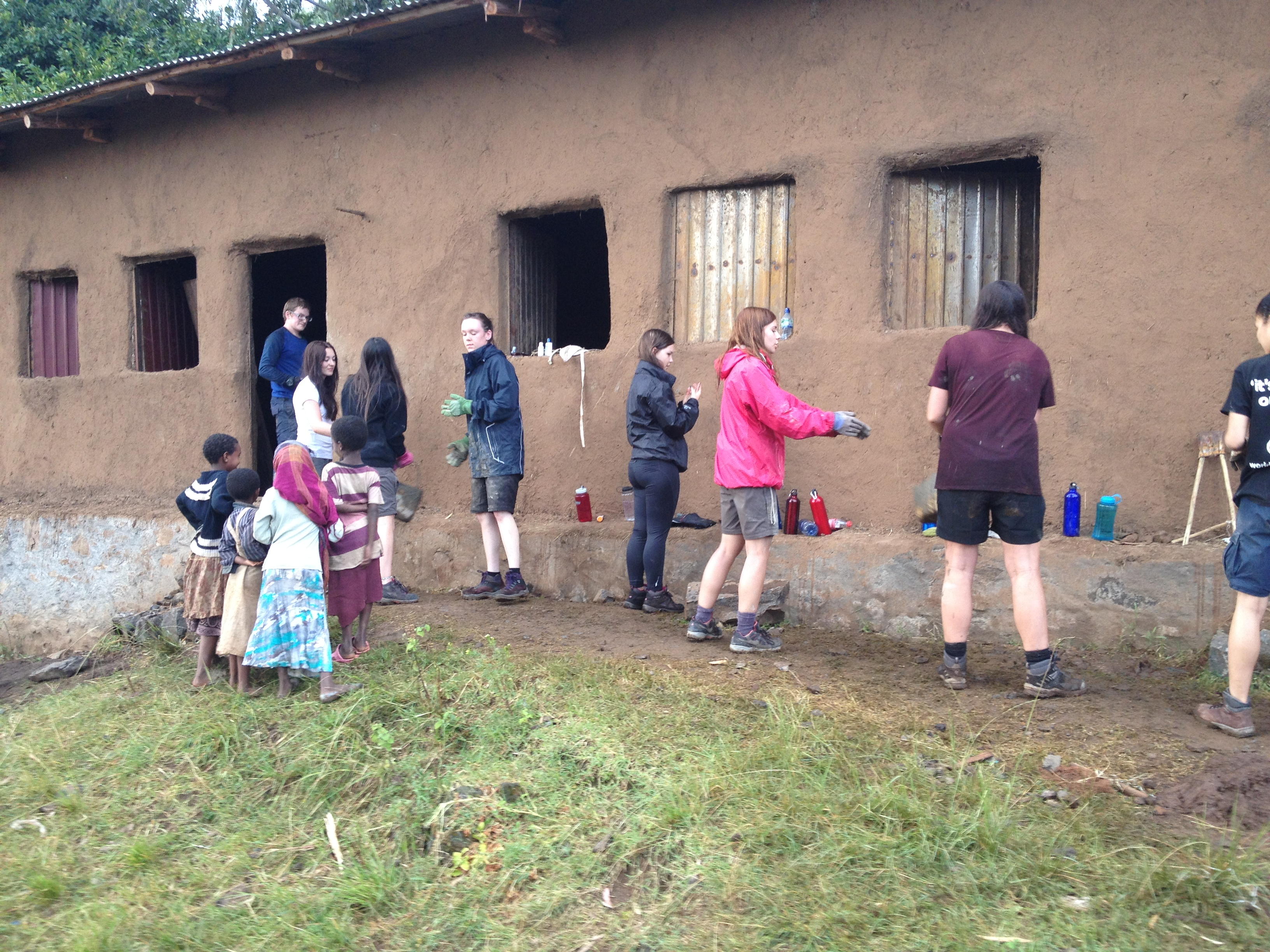 Henry Floyd: this group provided a much-needed concrete floor to several classrooms and brightened up the school with colourful painting. (Addis Alem)