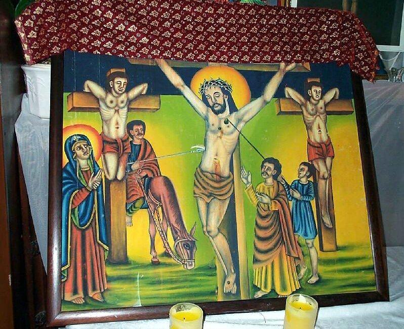 Chris on the Cross