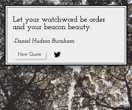 Random quote generator