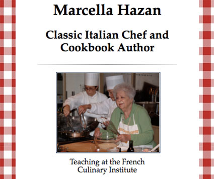 Tribute to Marcella Hazan