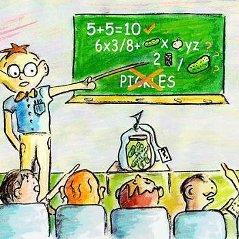Professor Prof - Mixed Media Illustration