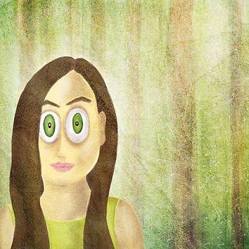 Woods Series - Girl Portrait 1 - Digital Painting