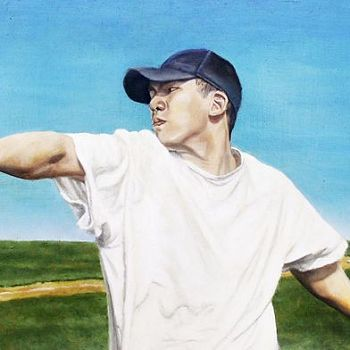 Fastball - Oil Painting