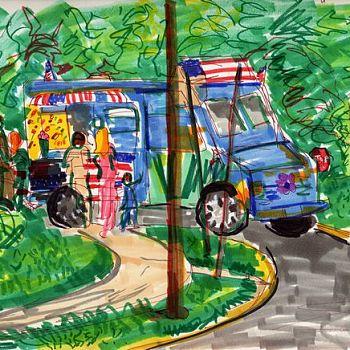Ice Cream Truck - Marker Sketch