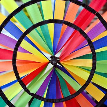 Rainbow Wind Wheel - Photography