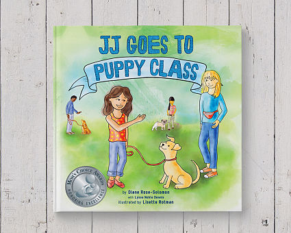JJ Goes to Puppy Class Children's Book Illustration and Design