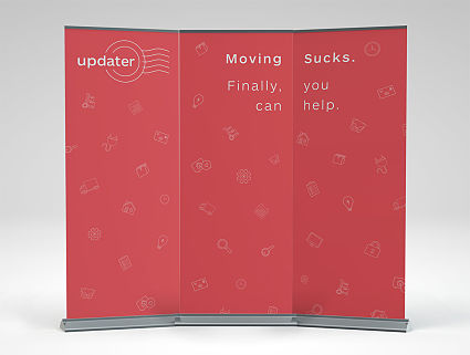 Large Retractable Triptych Banners