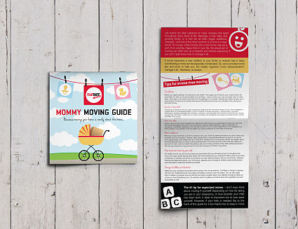 Mommy Moving Guide Half Fold Brochure