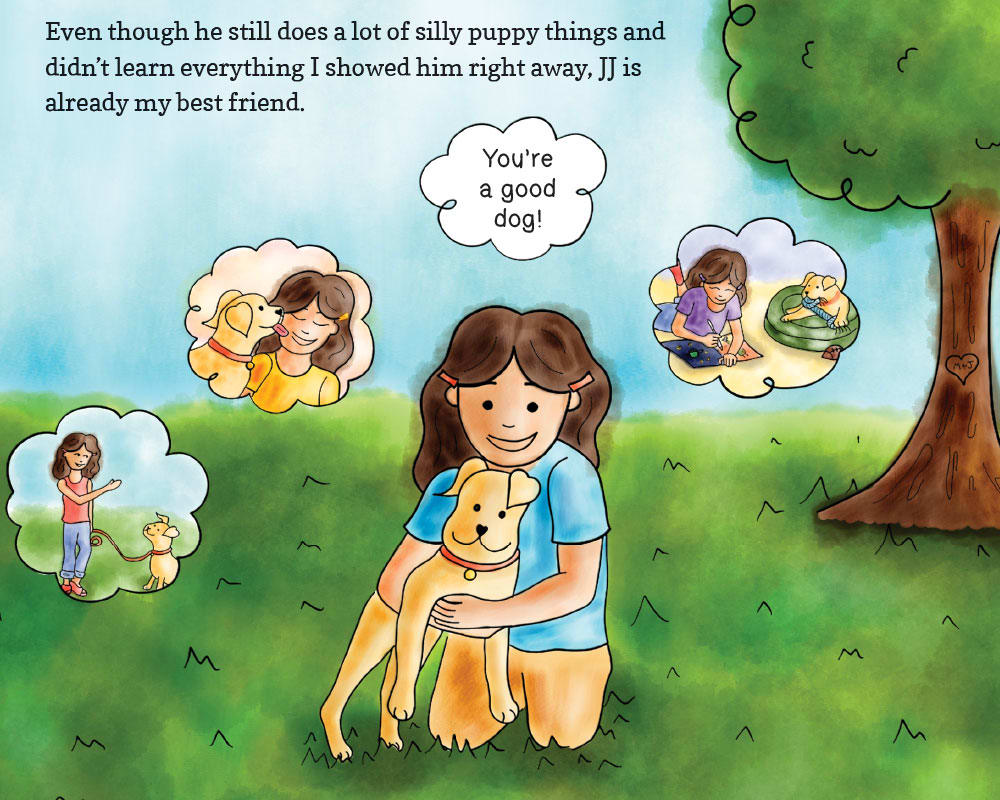 JJ Goes to Puppy Class - Digital Illustration and Children's Book Design