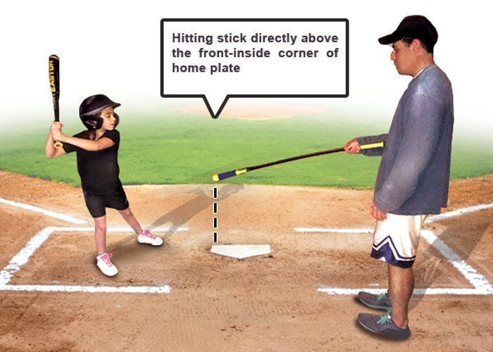 Backyard Tip Placement Hitting Using A Hit Stick - Backyard batter