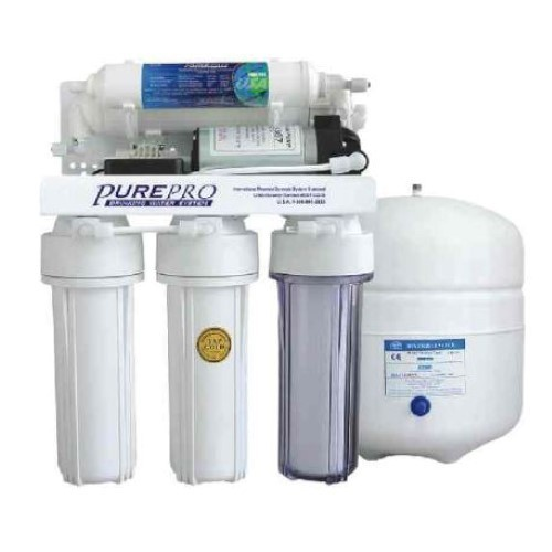 PurePro 5 Stage 50 Gallon Reverse Osmosis Water Purification System with Booster Pump