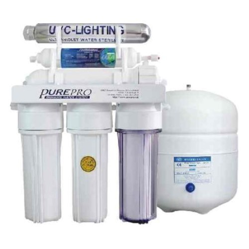 PurePro 5 Stage 50 Gallon Reverse Osmosis Water Purification System with Ultraviolet Sterilizer