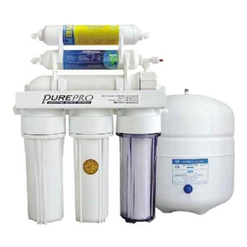 PurePro 6 Stage 50 Gallon Reverse Osmosis Water Purification System with Mineral Filter