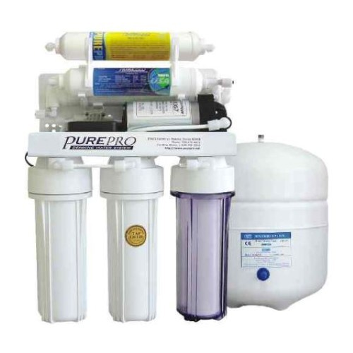 PurePro 6 Stage 50 Gallon Reverse Osmosis Water Purification System with Mineral Filter and Pump