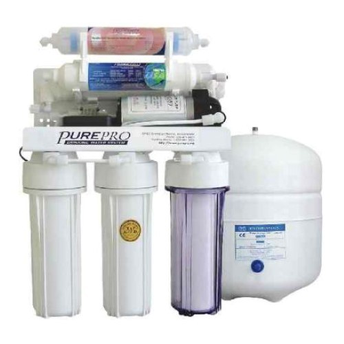 PurePro 6 Stage 50 Gallon Reverse Osmosis Water Purification System with Infra-Red Filter and Pump