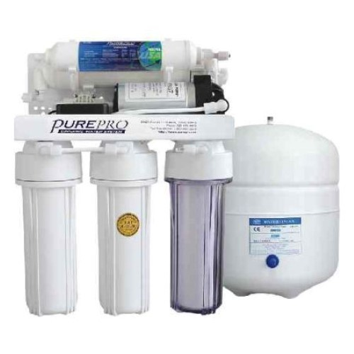 PurePro 5 Stage 80 Gallon Reverse Osmosis Water Purification System with Built-In Pump