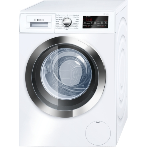 Bosch 800 series WAT28402UC Front-Loading Washer - 2.2 cu ft - White/chrome