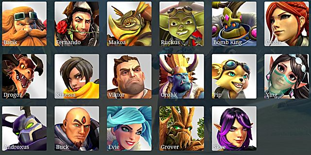 Paladins champions of the realm heroes