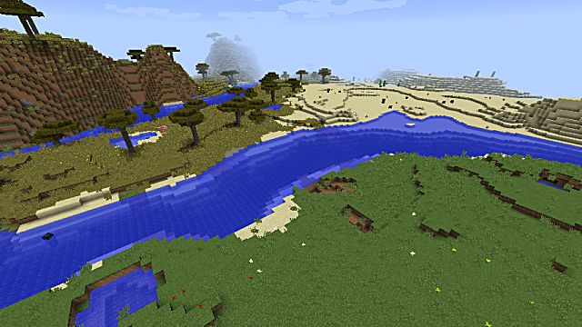 The river runs all through this Minecraft seed