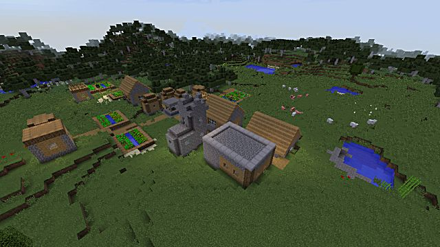 Lazy players will love spawning right in the middle of this village