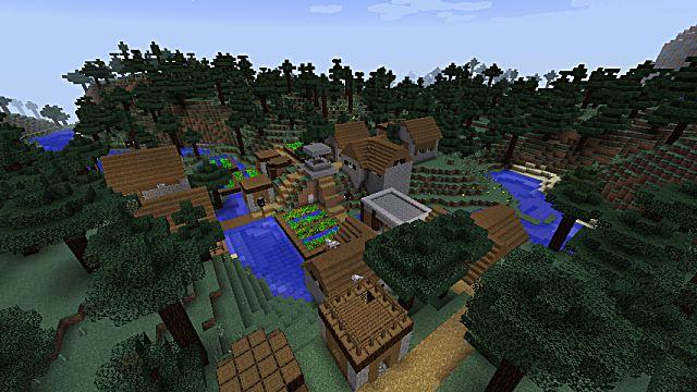 Taiga village in Minecraft
