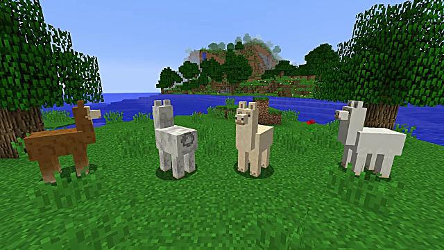 ride a llama minecraft
