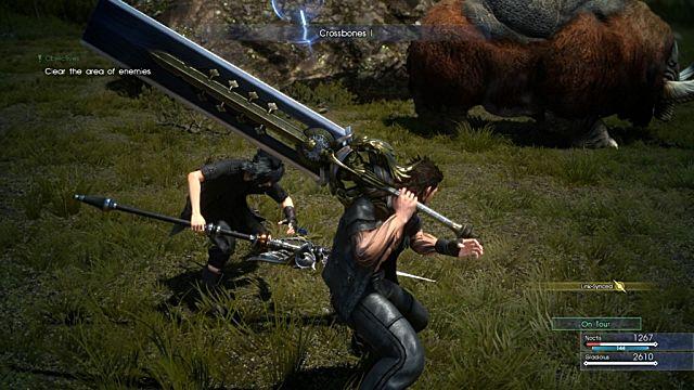 Final Fantasy XV battle
