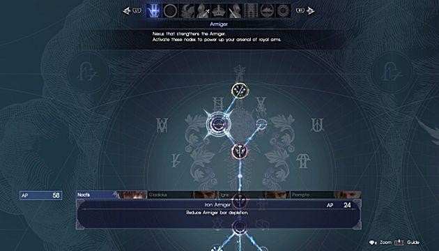 final fantasy xv armiger ascension grid