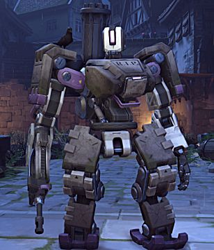 overwatch Bastion halloween skin