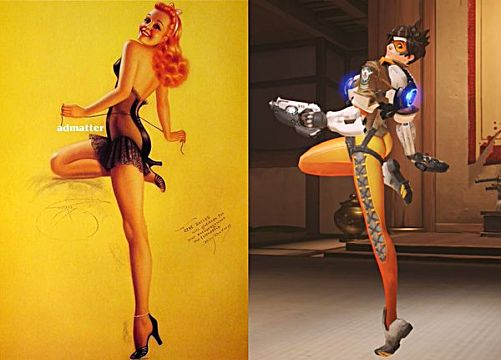 Tracer butt pose pinup model