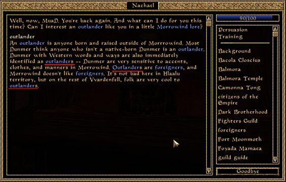 Morrowind Dialog box