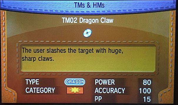 Pokemon Dragon Claw move