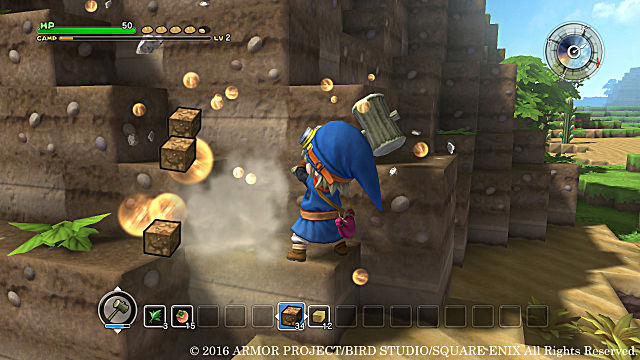 Dragon Quest Builders Review Gameplay Gathering Building