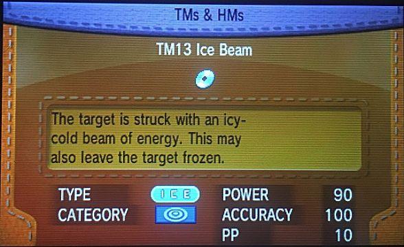 Pokemon Ice Beam
