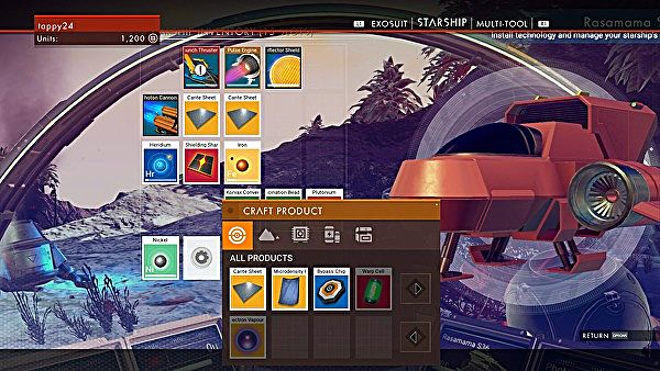 No Man's Sky ship upgrades