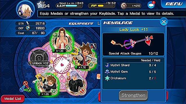 Kingdom Hearts Unchained X Keyblade Materials